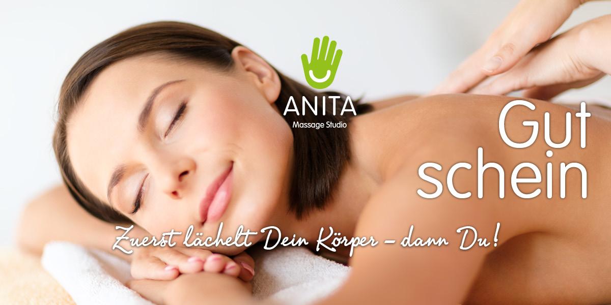 Gutschein Massage Studio Anita - Zuerst lächelt Dein Körper - dann Du!