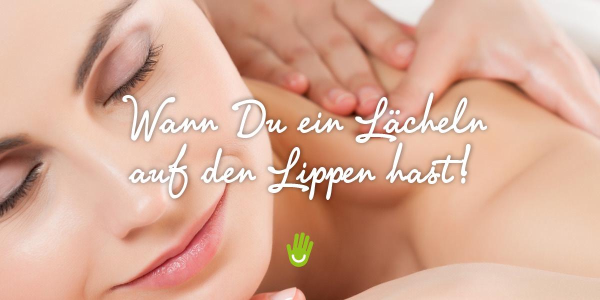 Massage - Lächeln auf den Lippen