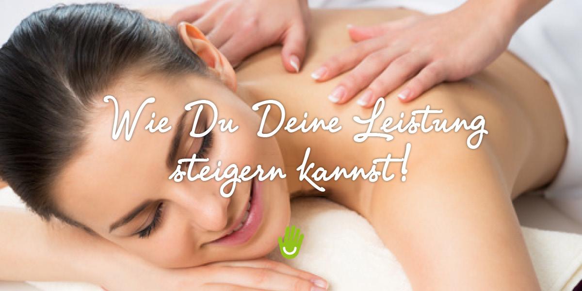 Massage - Leistung steigern